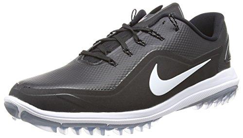 Nike Men's Lunar Control Vapor 2 Golf Shoes, Black/White/Cool Gray, 8 M US