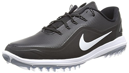 Nike Men's Lunar Control Vapor 2 Golf Shoes, Black/White/Cool Gray, 11 M US
