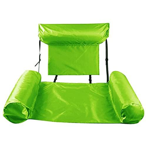ZXQZ Kayak Flotadores Inflables para Piscina Hamaca de Agua Plegable, Asiento de La Cama del Flotador del Adulto del Partido del Flotador del Verano, para Piscinas Bañera de Hidromasaje Playa