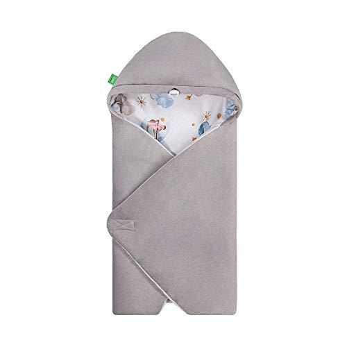 LULANDO Art Baby Winter-Einschlagdecke, Babyschlafsack Yeti, Schlafsack für die Babytrage, Schlafsack für Babyschale, Autositz, Schlafsack für Säuglinge, 75x75 cm (Sleepy)