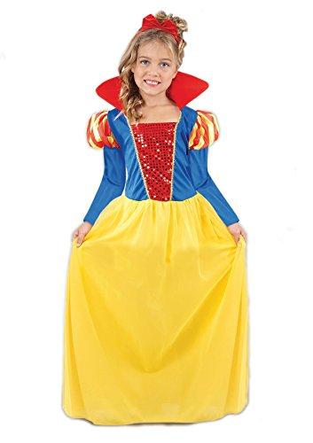 Ciao-Biancaneve costume bambina (Taglia 4-6 anni), Giallo/Rosso/Blu, 18270.4-6
