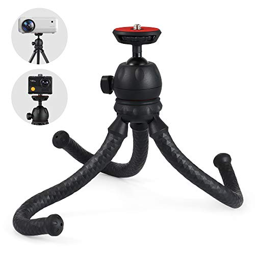 Apeman Mini Tripod Projector Mount Premium Adjustable Stand Multi-Function Portable Bendable Stand Compatible with Compact System Projector (Black)