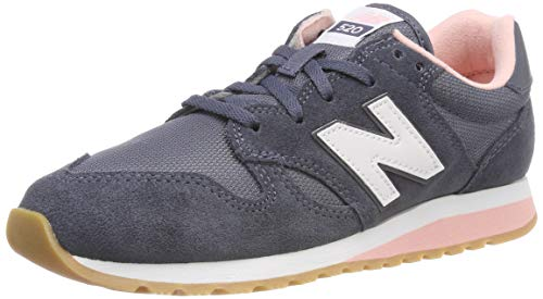New Balance Damen WL520CH Sneaker, Blau (Grisaille/Himalayan Pink Ck), 37 EU