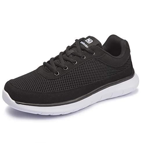 [NeedBo] NDB ウォーキングシューズ メンズ メッシュ 蒸れない ランニングシューズ 24.5〜30センチ スニーカー 運動靴 軽量 厚底 アウトドア カジュアル 通学 通勤 日常着用 黒 28cm