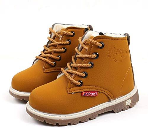 Tefamore Bambini Caldo Ragazzi Stivali Martin Sneaker Bambini Casual Scarpe (22, Giallo)