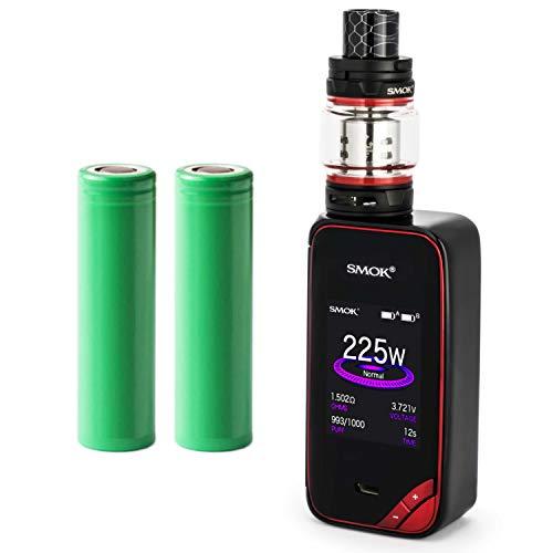 Smok X-Priv Kit inkl. TFV12 Prince (8ml) 5000 mAh E-Zigaretten-Set E-Zigarette Starterset (nikotinfrei) (schwarz-rot)