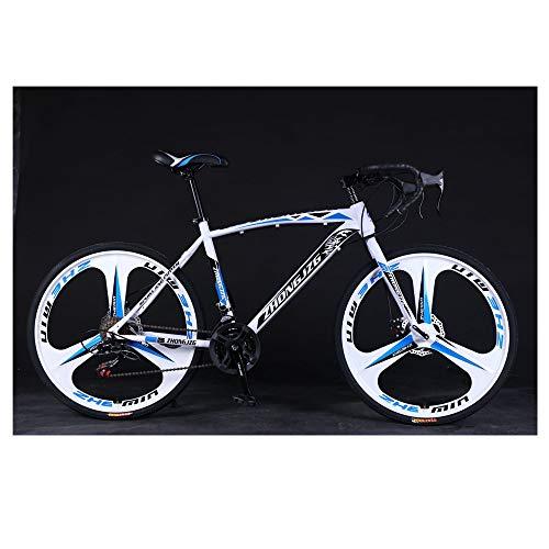 Mountain Road Bike, 21 Speed 700c Sport Aluminum Road Bike, Made in America (Blue White)