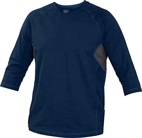 Rawlings  Adult 3/4 Sleeve Performance Shirt, Small, Navy