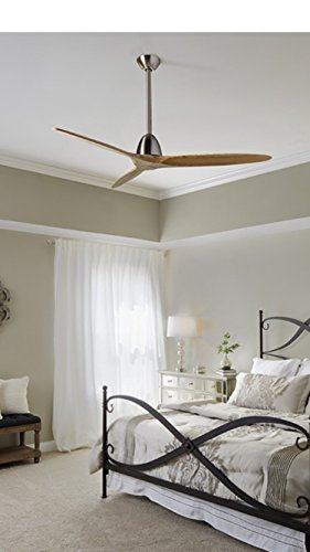 Fanimation Studio Collection Prop 60-in Brushed Nickel Downrod Mount Indoor Ceiling Fan with Remote Control (3-Blade) ENERGY STAR