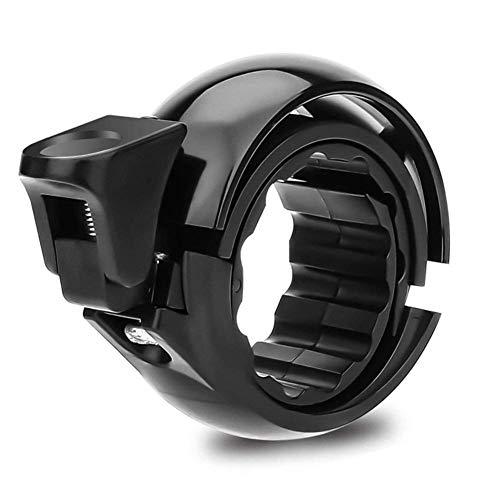 FLOWTRIC Fahrradklingel Laut, Universal Fahrradglocke für Lenker von 22,2 bis 31,8 mm, O Design für Alle Fahrrad Fahrrad-Klinge Alarm Horn Lenkerklingel Schwarz