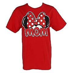 Disney Minnie Mouse Camiseta Mujer T Camiseta mamá Ventilador Moda Top