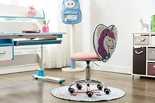 Cute Adjustable Swivel Faux Fur Desk Chair