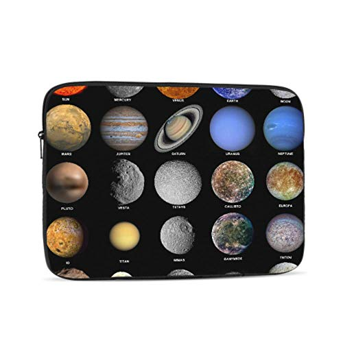 All of The Planets That Make Up The Solar System W Pattern 10' Inch Laptop Sleeve Case Bag Compatible with Apple MacBook Air Pro Dell Lenovo Samsung Asus Computer Tablet Or Ipad