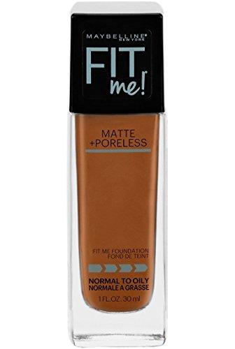 Maybelline Fit Me Matte + Poreless Liquid Foundation Makeup, Warm Coconut, 1 fl. oz. Oil-Free Foundation
