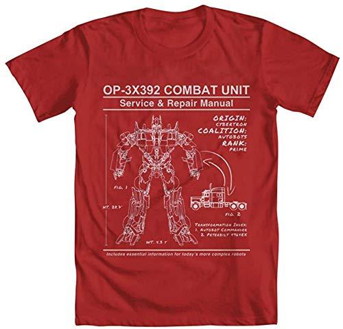 Transformers Optimus Prime Manual Men's T-Shirt