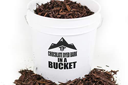 Chocolate Dyed Bark Mulch in Bucket - by TERRAFIRMA - 1 Gallon -...