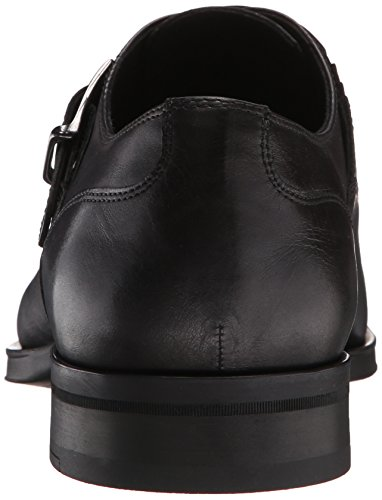 Donald J Pliner Men's Sergio-61 Monk Strap Flat, Black, 9 M US