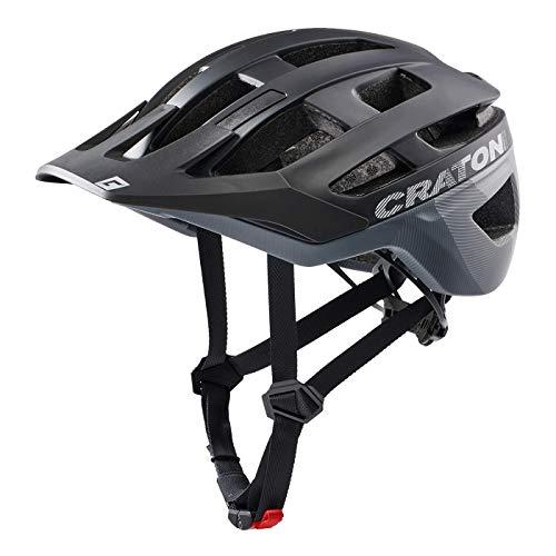 Cratoni AllRace Fahrradhelm Herren/Damen, MTB Helm, Mountainbikehelm 2021 (M-L 56-61, Schwarz-Grau)