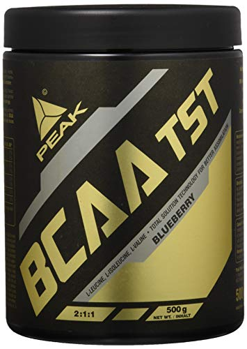 PEAK BCAA TST 500g | Premium BCAAs | 10.000mg BCAAs pro Portion | High Quality (Blueberry)