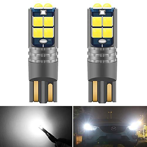 GSDGBDFE 2 unids T10 W5W Super Bright Coche Interior Lectura Cúpula Lámpara Marcador de Luz 168 194 Auto Cuña Aparcamiento Bulbos Naranja (Emitting Color : White)
