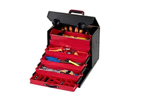 Parat 44.500-581 Top-Line Schubladentasche, 5-tlg. Schubladeneinsatz, rollbar (Ohne Inhalt), Schwarz, 410 x 220 x 310 mm