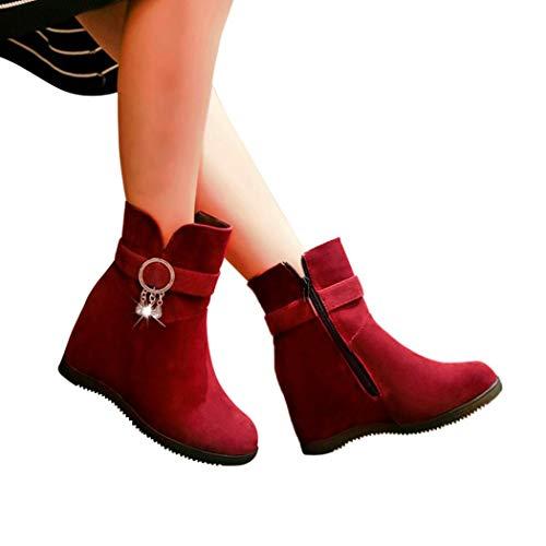 Sonnena Botas Casual - Botines de cuña para Mujer Botines Planos Zapatos...