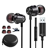 USB Headset with Microphone [8.2Ft] 7.1 Surround Sound Wired USB Earbuds for PC Laptop Playstation, Lightweight Noise Cancelling PS4 Headset with Mic Mute Computer Headphones for School Office Travel