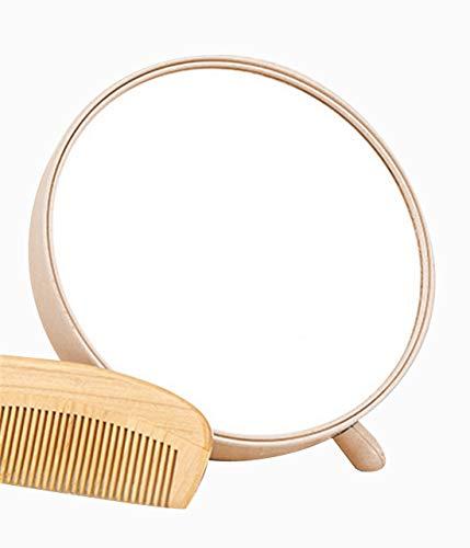qearly portable sont Maquillage Miroir Bijoux Rangement Miroir de Rose