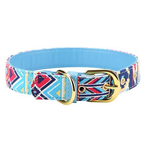 NCONCO Verstellbares bedrucktes Hundehalsband, weiches Segeltuch, Hundehalsband für Haustiere
