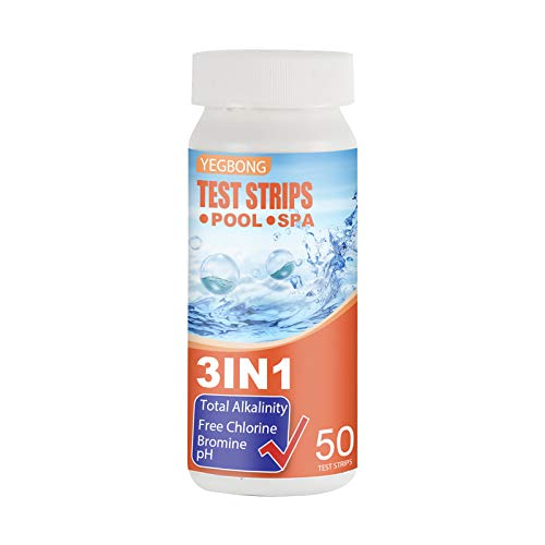 DeBaDe 3 in 1 Pool Test Strips, 50 Strips SPA Test Strips for Hot Tub Best Kit for Accurate Water Quality Testing at Home Direct Spa Test Strips for pH Testing