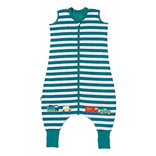 Schlummersack Schlafsack mit Füßen Sommer 110 cm 1 Tog dünn Autos   Kinder Schlafsack mit Beinen und verlängerten Bündchen für eine Körpergröße 110-120cm   Schlummersack mit Füßen 1 Tog