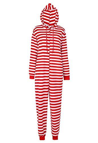 Women's Christmas Onesie Adult Matching Family Christmas Pajamas Set Matching for Family Red L