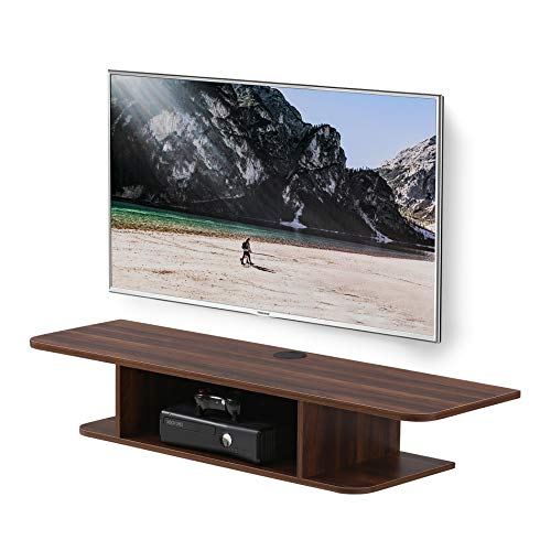 FITUEYES Floating TV Stands Wall Mounted Wood Media Console Entertainment Center Shelves Brown DS210503WR