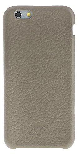 Solo Pelle iPhone 6 Plus / 6S Plus (5.5 Zoll) Fullcover Ledertasche/Backcover (Floater Taupe) inkl. edler Geschenkverpackung