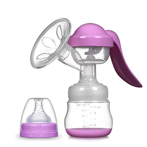 ODSHY Handmilchpumpe Leistungsstarke Baby-Nippel Saugen 150ml Fütterung Milchflaschen Brüste Pumpen Flasche saugen (Farbe : RH208 Purple)