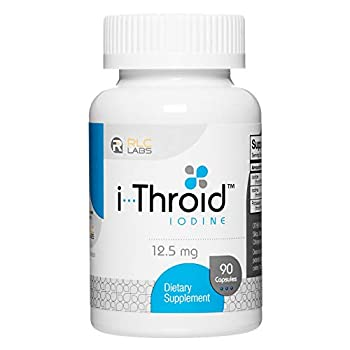 RLC i-Throid 12.5 mg Iodine and Iodide Supplement to Support Thyroid Health and Hormone Balance 90 capsules  90 servings