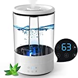 Cool Mist Humidifier,4.5L Ultrasonic Humidifiers for Bedroom,Quiet Whisper Operation with 3 Mist Level Adjustable,8H Timer and Night Light for Kids White