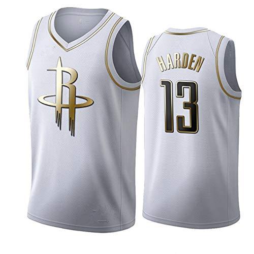 SHR-GCHAO Camiseta De Baloncesto para Hombre, Camiseta De Baloncesto NBA Houston Rockets N. ° 13 Harden, Bordado Transpirable Y Resistente Al Desgaste, Camiseta De Aficionado Juvenil,L(180~185cm)