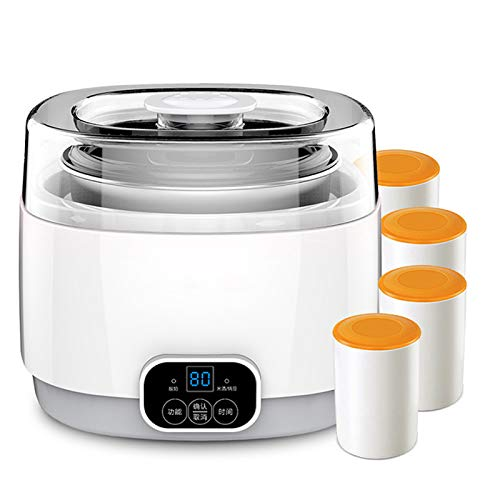 Amazing Deal QAIYXM Yogurt Maker, Three-in-One Fully-Automatic Multi-Functional Mini Homemade Natto ...