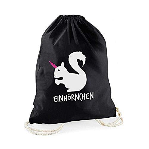 Statement-Turnbeutel Einhörnchen - Gym-Bag - Rucksack - Hipster Beutel mit Spruch - Tasche - Sportbeutel - Geschenkidee