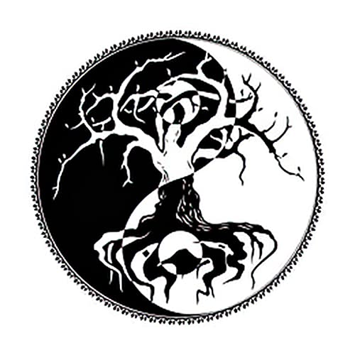 6 Sheets Temporary Tattoos of a Celtic Symbol Yin and Yang Druidic Yggdrasil Tree Temporary tattoo Neck Arm Chest for Women Men Adults 3.7 X 3.7 Inch Jewelry Tattoo