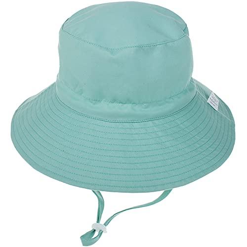 Unisexo Bebé Sombrero de Sol Verde Gorro de Pescador Pequeños Infantil Verano Exteriores Protección Solar ala Ancha Gorro de Playa para 0-6 Meses Niña Niño