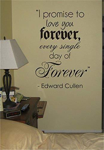 wandaufkleber weihnachten eule Ich verspreche, Sie für immer Twilight Zitat Aufkleber Aufkleber Wand Edward Bella Jacob zu lieben
