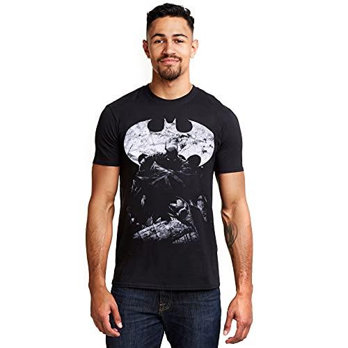 DC Comics Dark Knight Camiseta, Negro (Black Blk), X-Large para Hombre