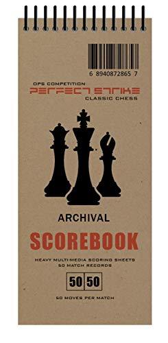 Perfektes Schach Sammelbuch mit Regeln und Anleitung. Robust. Archivierungsqualität. Ideal zum Üben und Wettkampf, Natur