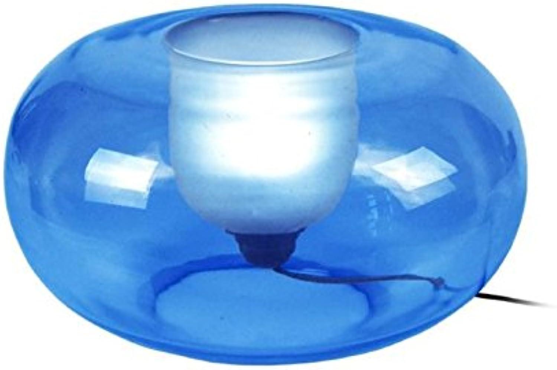 Tosel 62813 Muna (Insel), Glas Mundgeblasen, Malerei Innen, E27, 40 W, blau, 35 x 19 cm B075R7T7HL   Hervorragende Eigenschaften