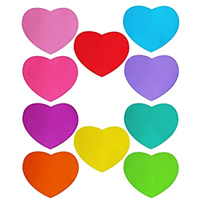 LJY 10 Pieces Heart Shaped Colorful Stickers Dr...