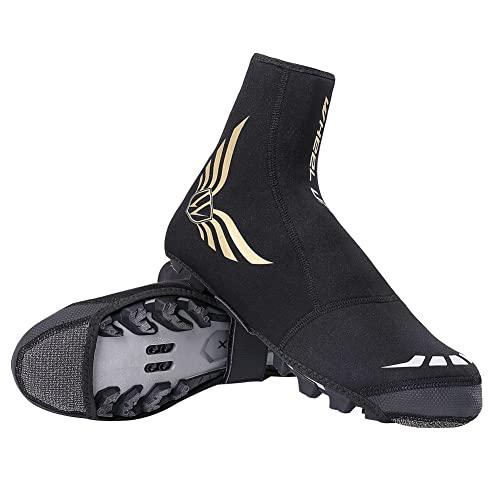 XJST Cubiertas De Zapatos De Ciclismo, Cubiertas Impermeables A Prueba De Viento, para Hombres, Zapatos De Ciclismo De Carreteras De Montaña, Mantengan Cálidas Y Cómodas,L