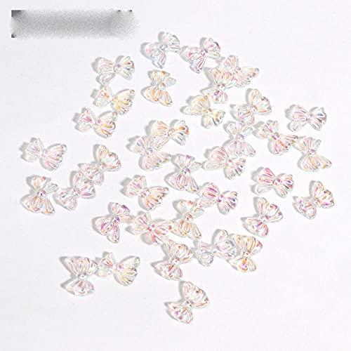 30 unids/set 12 estilos espumosos uñas arte decoraciones mariposa Shell flor forma DIY 3D transparente aurora manicura accesorios-DK2224-9