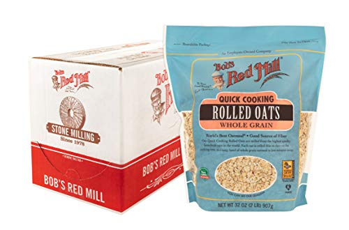Bob's Red Mill Quick Cooking Rolled Oats, 32-ounce (Pack of 4)